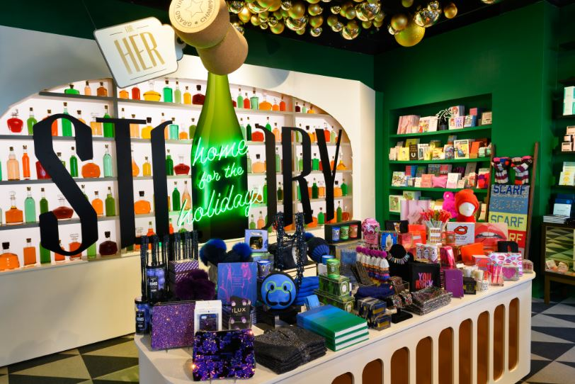 A detailed view of the Holiday items at STORY in NYC