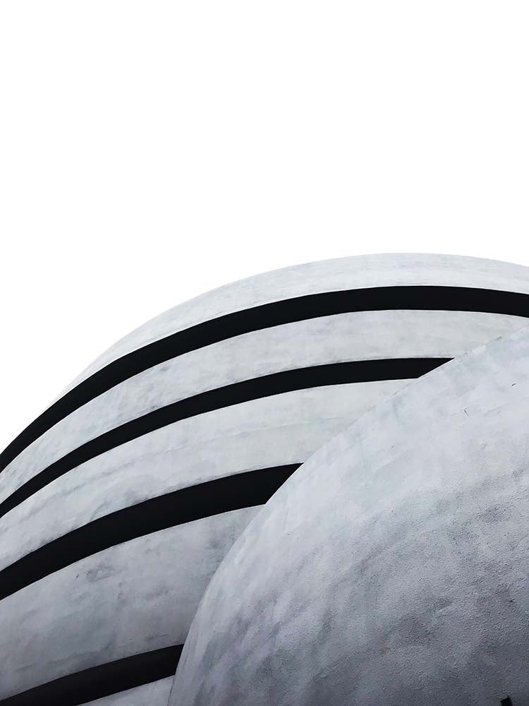 a unique view of the Guggenheim Museum
