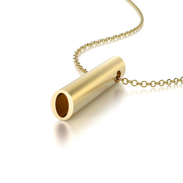 NUMBER 0 NECKLACE-14k YELLOW GOLD VERMEIL-outlet