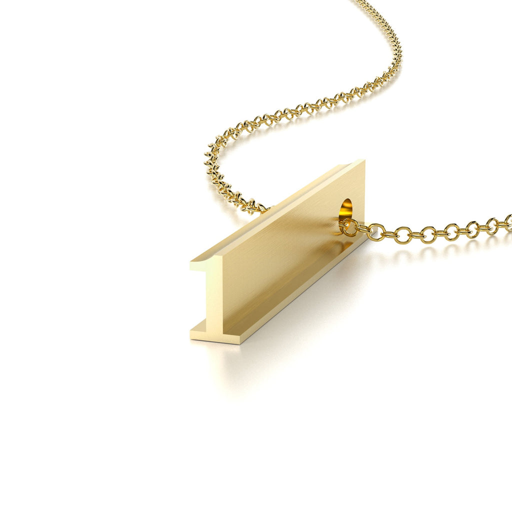 NUMBER 1 NECKLACE-14k YELLOW GOLD VERMEIL-outlet