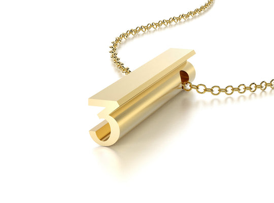 NUMBER 3 NECKLACE-14k YELLOW GOLD VERMEIL-outlet