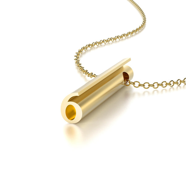 NUMBER 6 NECKLACE-14k YELLOW GOLD VERMEIL-outlet