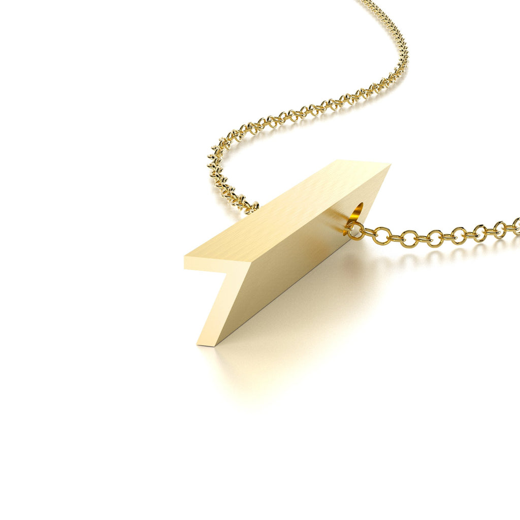 NUMBER 7 NECKLACE-14k YELLOW GOLD VERMEIL-outlet