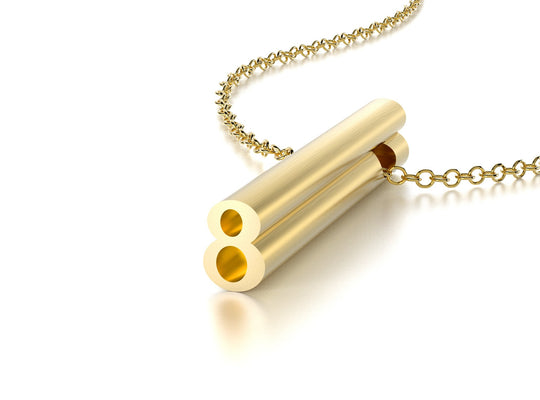 NUMBER 8 NECKLACE-14k YELLOW GOLD VERMEIL-outlet