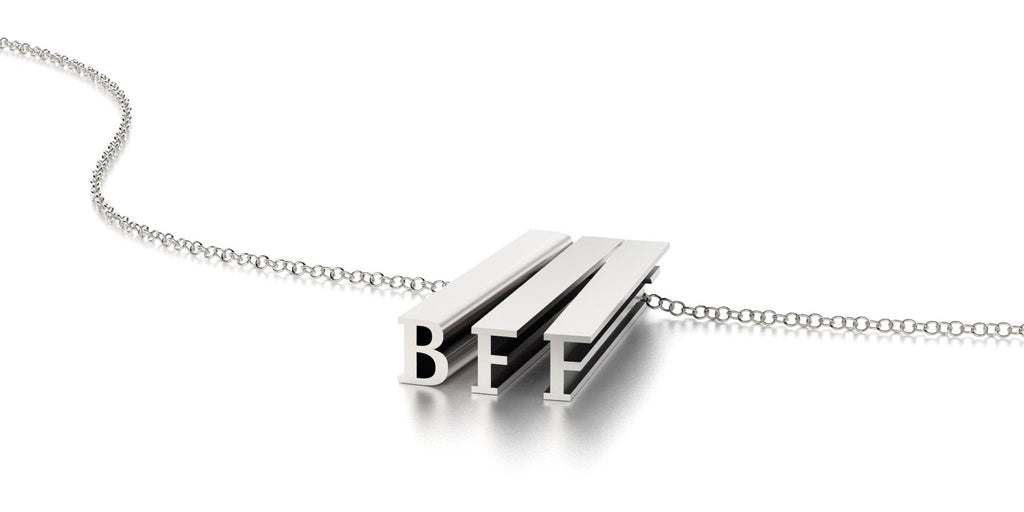 BFF NECKLACE-STERLING SILVER-outlet