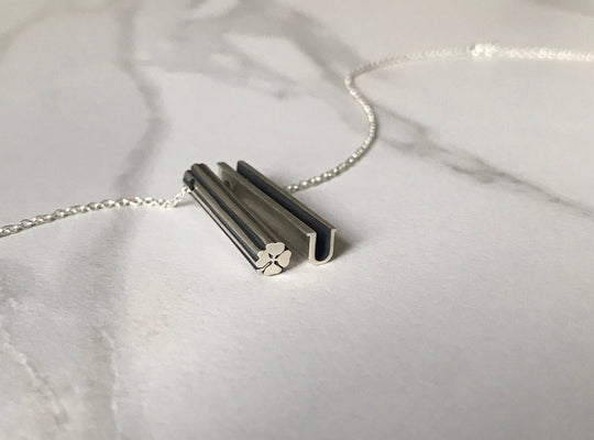 LUCKY U NECKLACE-STERLING SILVER-outlet