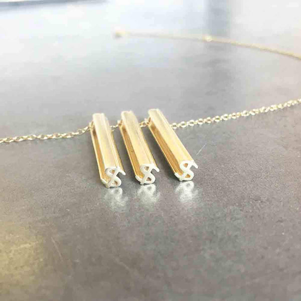 $$$ NECKLACE-14k YELLOW GOLD VERMEIL-outlet