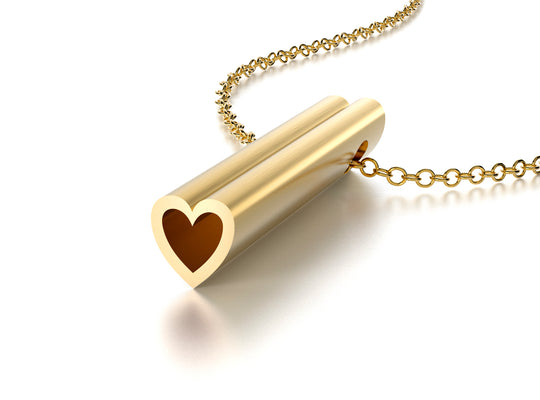 SYMBOL HEART NECKLACE-14k YELLOW GOLD VERMEIL-outlet