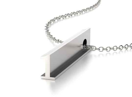 NUMBER 1 NECKLACE-STERLING SILVER-outlet
