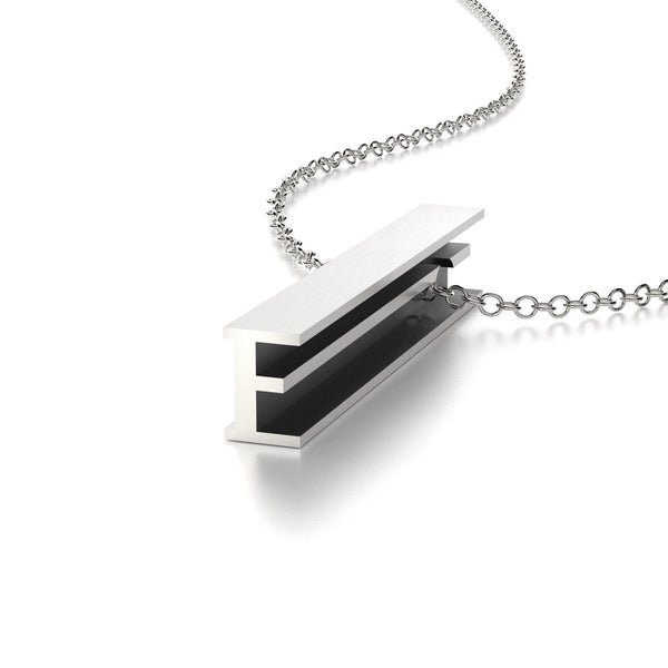 LETTER E NECKLACE-STERLING SILVER-outlet