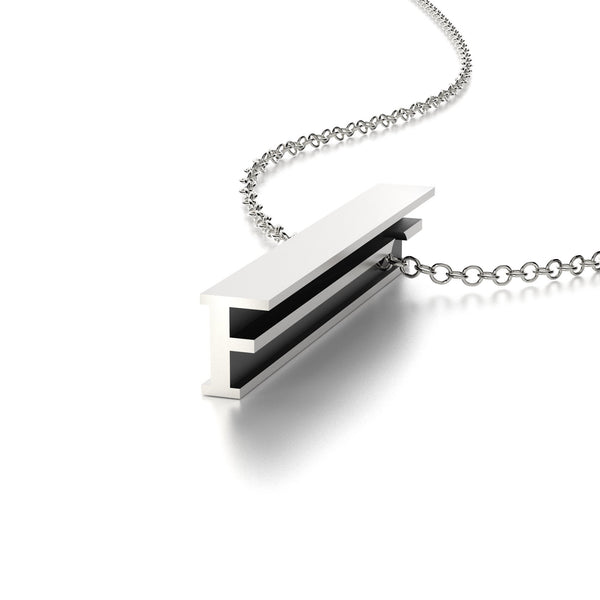 LETTER F NECKLACE-STERLING SILVER-outlet