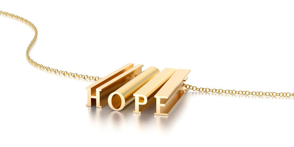HOPE NECKLACE-14k YELLOW GOLD VERMEIL-outlet