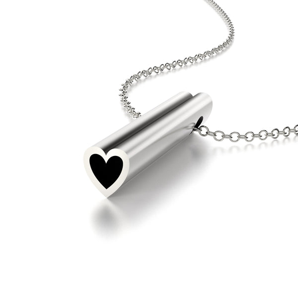 SYMBOL HEART NECKLACE-STERLING SILVER-outlet