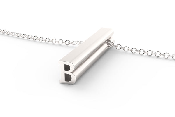 B - Long Pendant Necklace