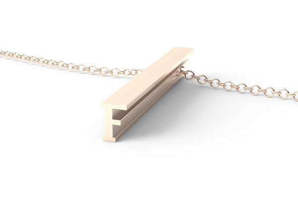 F - Long Pendant Necklace