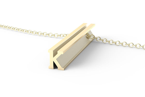 Letter K Original Pendant Necklace