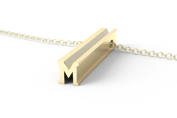Letter M Original Pendant Necklace