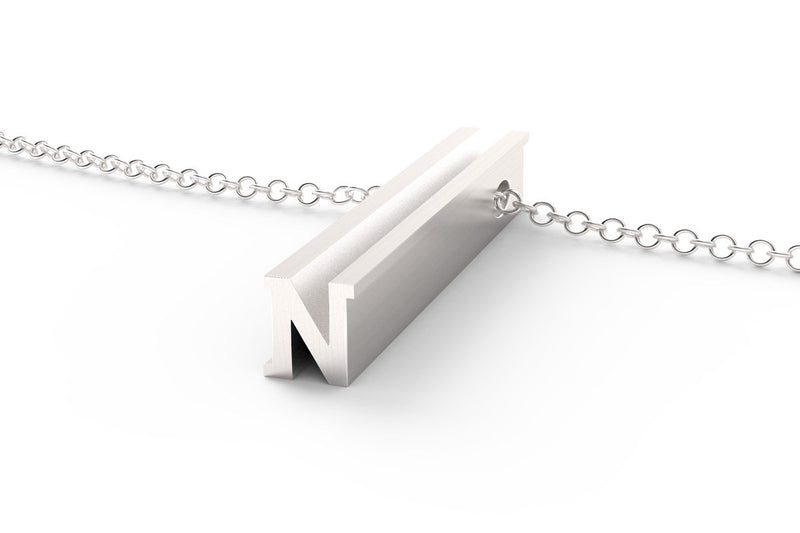 Letter N Original Pendant Necklace