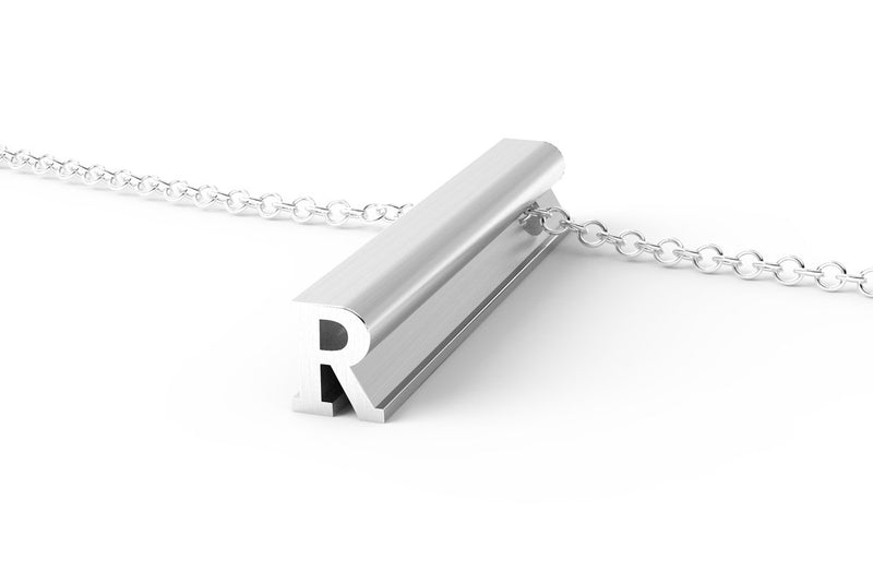 Letter R Original Pendant Necklace