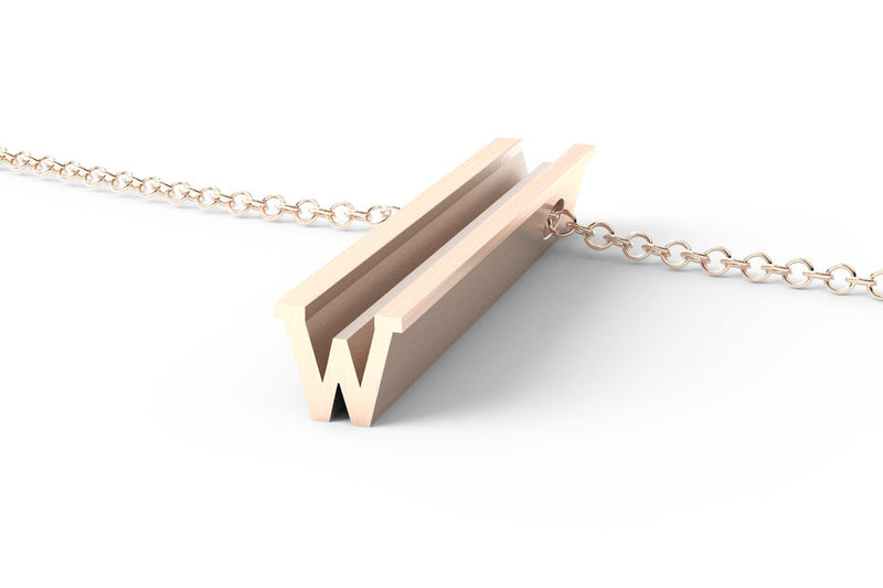 Letter W Original Pendant Necklace