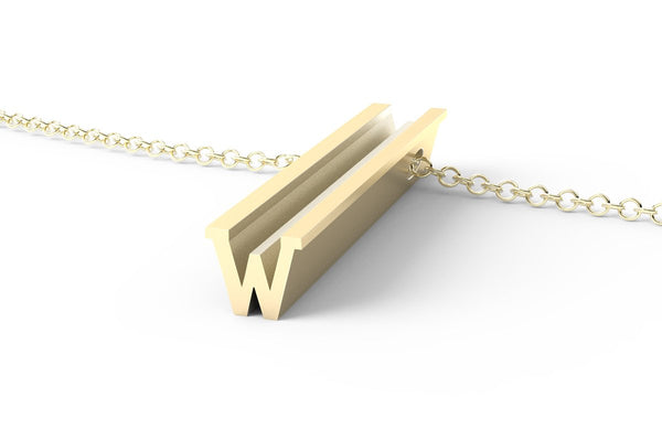 W - Long Pendant Necklace