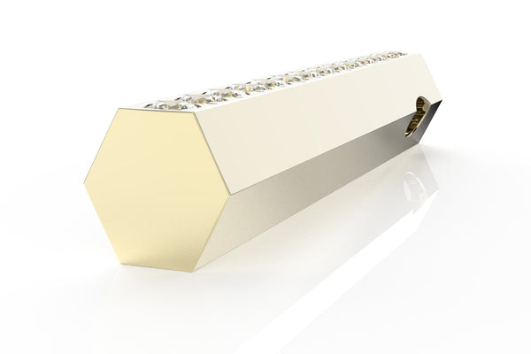 STONE BAR - 14k Diamond Pavé - Pendant
