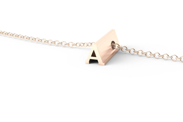 Rose Gold Pendant Necklace - Short