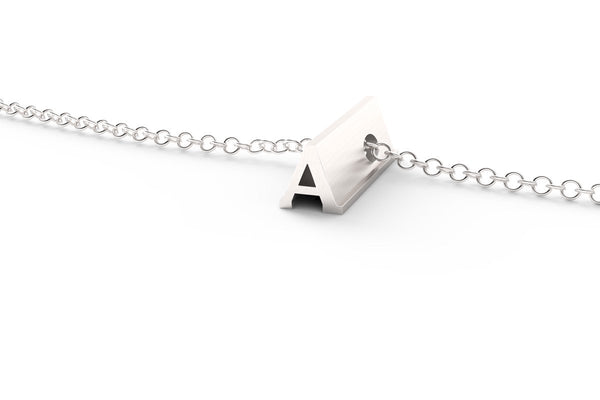 Letter A Short Pendant Necklace