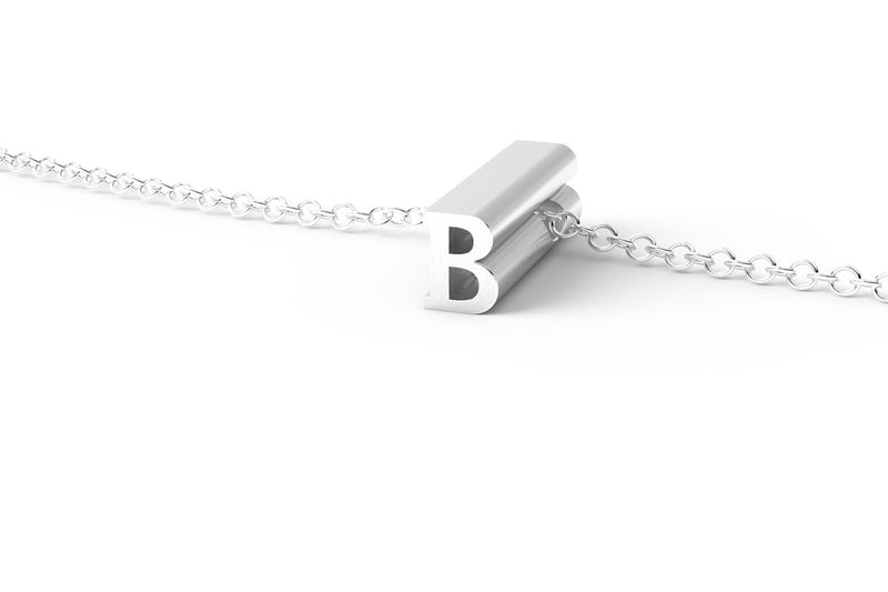 Letter B Short Pendant Necklace