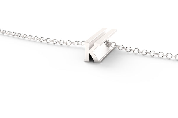 Letter K Short Pendant Necklace