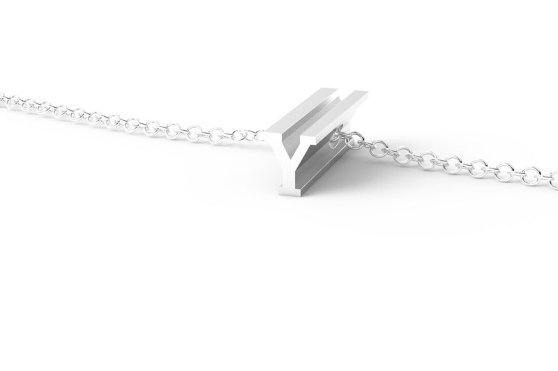 White Gold Pendant Necklace - Short