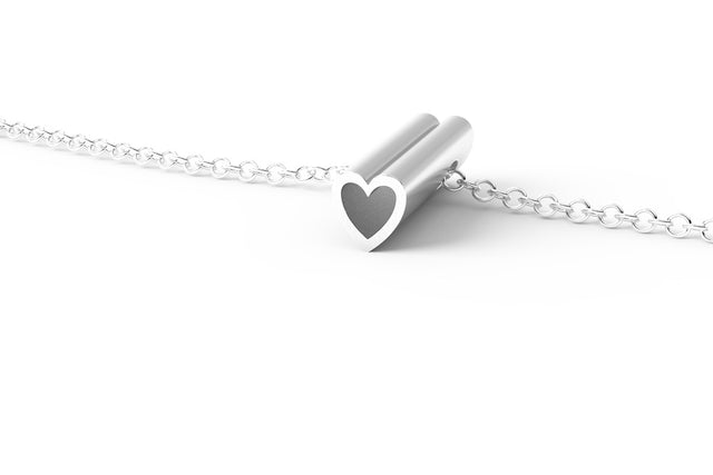 HEART // STERLING SILVER // SHORTY // CABLE CHAIN