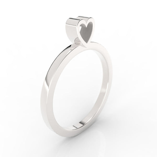 HEART - SLICE RING