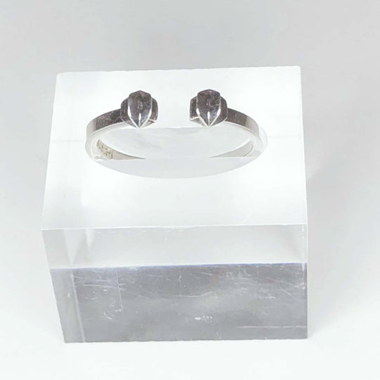 STERLING SILVER - DOUBLE STAR - SLICE RING - OUTLET