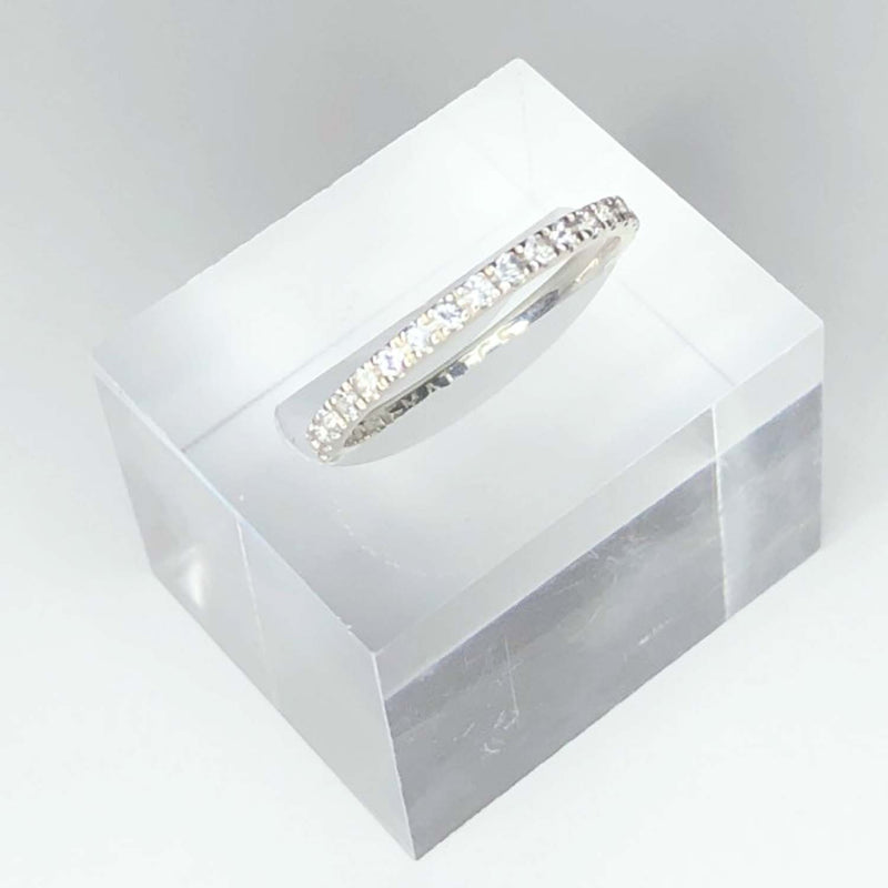 STERLING SILVER - WHITE SAPPHIRE PAVE - STACKING BAND - OUTLET