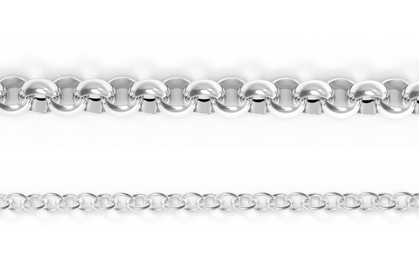 14K WHITE GOLD STRINGER CHAIN