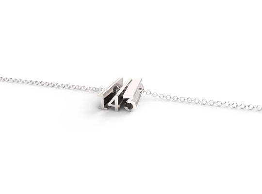 143 (i love you) // STERLING SILVER // SHORTY // CABLE CHAIN