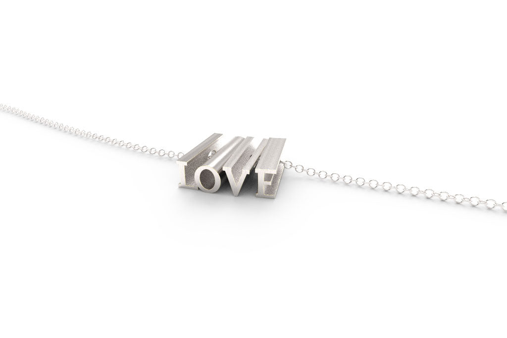 LOVE // STERLING SILVER // SHORTY // CABLE CHAIN