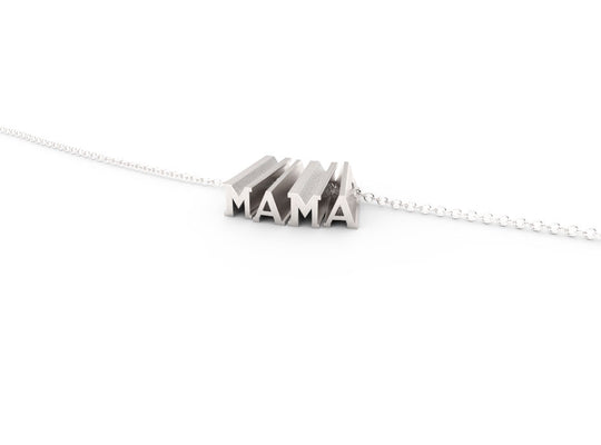 MAMA // STERLING SILVER // SHORTY // CABLE CHAIN