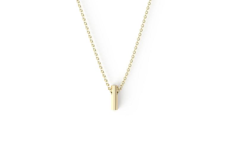 Yellow Ribbon Necklace - 14k Yellow Gold