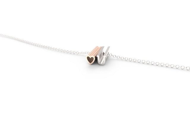 heart U // 14k ROSE GOLD & STERLING SILVER // SHORTY // CABLE CHAIN