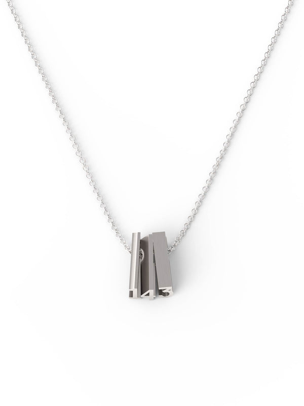143 (i love you) Necklace - SILVER