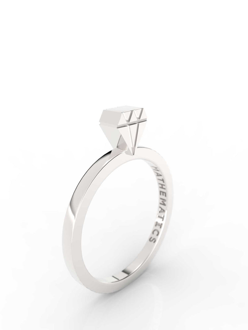 DIAMOND RING STERLING SILVER