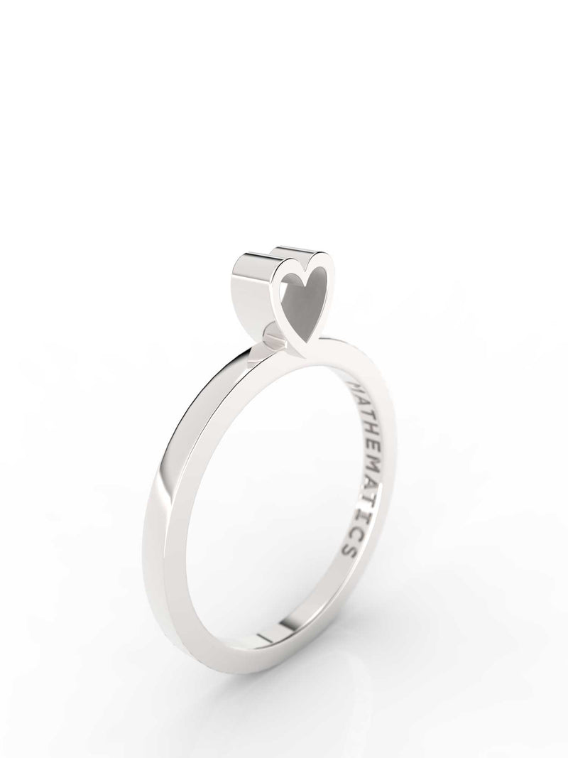 HEART RING STERLING SILVER