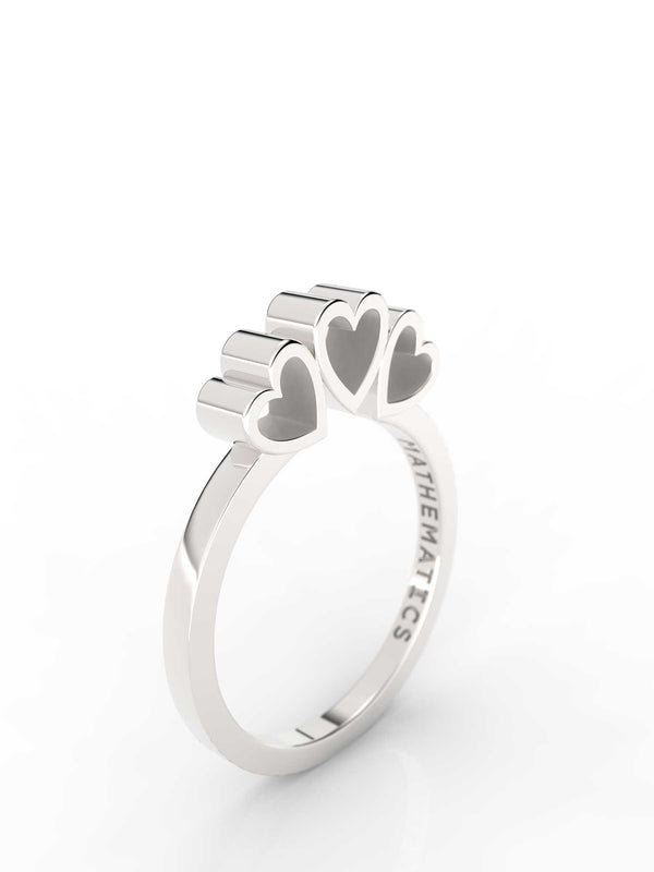 TRIPLE HEART RING STERLING SILVER