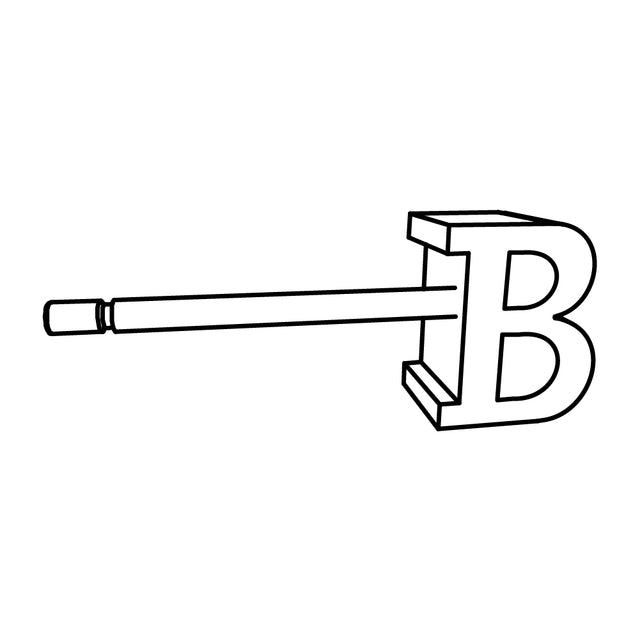 LETTER B SLICE EARRING - STERLING SILVER - outlet