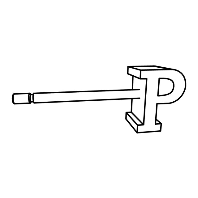 LETTER P SLICE EARRING - STERLING SILVER - outlet