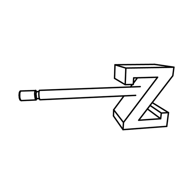 LETTER Z SLICE EARRING - STERLING SILVER - outlet