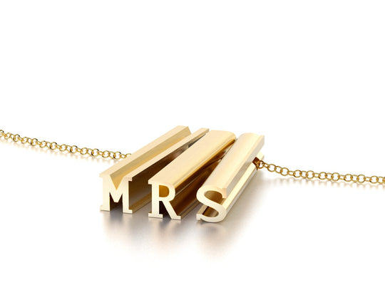 MRS NECKLACE-14k YELLOW GOLD VERMEIL-outlet