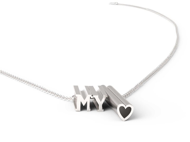 MY heart Necklace - Mix Metal